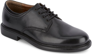 Dockers Footwear Men's Gordon Plain Toe Dress Oxford Shoe in Black Side Angle View