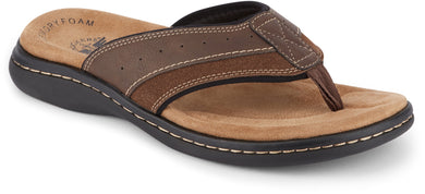 Dockers Footwear Men's Laguna Flip-Flop Sandal in Briar Side Angle View