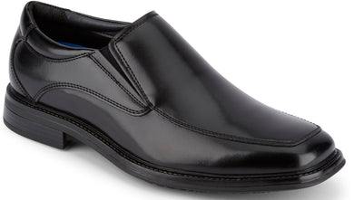 Dockers Men's Lawton Slip Resistant Dress Loafer Shoe in Black from the side view
