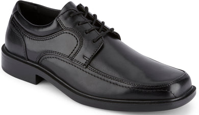 Dockers Footwear Men's Manvel Dress Oxford Shoe in Black Side Angle View