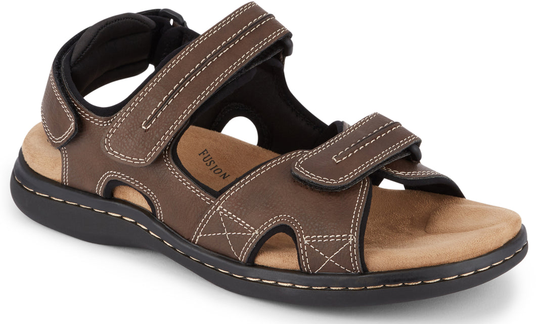 Dockers Footwear Men's Newpage Sporty Outdoor Sandal in Briar Side Angle View