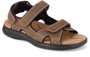 Dockers Footwear Men's Newpage Sporty Outdoor Sandal in Dark Tan Side Angle View