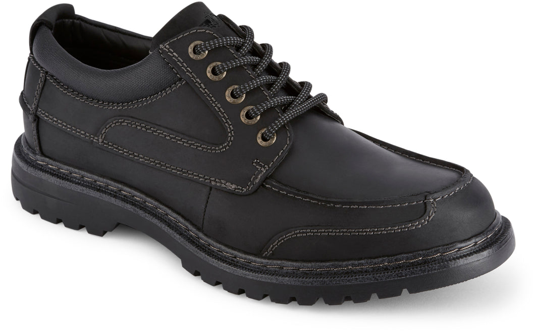 Dockers Men's Overton Rugged Oxford Shoe in Black from the side view