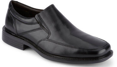 Dockers Footwear Men's Park Dress Loafer Shoe in Black Side Angle View