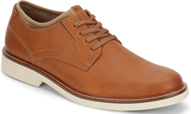 Dockers Footwear Men's Parnell Alpha Casual Oxford Shoe in Dark Tan Side Angle View