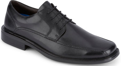 Dockers Footwear Men's Perry Dress Oxford Shoe in Black Side Angle View