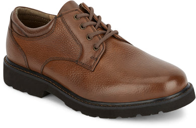 Dockers Footwear Men's Shelter Rugged Oxford Shoe in Dark Tan Side Angle View