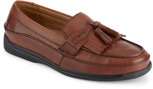 Dockers Footwear Men's Sinclair Casual Loafer Shoe in Antique Brown Side Angle View