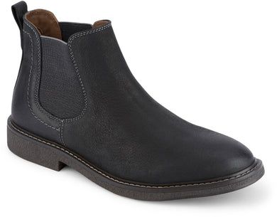 Dockers Footwear Men's Stanwell Chelsea Boot in Black Side Angle View