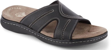 Dockers Footwear Men's Sunland Slide Sandal in Black Side Angle View