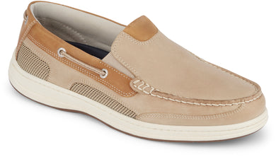 Dockers Footwear Men's Tiller Boat Shoe in Taupe Side Angle View