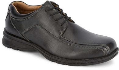 Dockers Footwear Men's Trustee Dress Oxford Shoe in Black Side Angle View