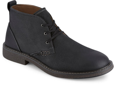 Dockers Footwear Men's Tulane Chukka Boot in Black Side Angle View