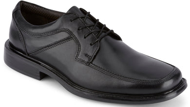 Dockers Footwear Men's Union Dress Oxford Shoe in Black Side Angle View