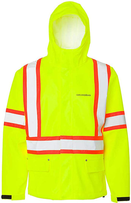 Grundéns Men's CSA Neptune Jacket in CSA Hi-Vis Yellow Front Angle View