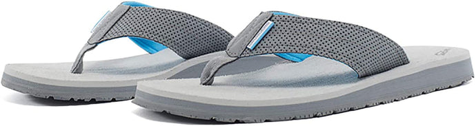 Grundéns Women's Deck Hand Sandal in Glacier Grey Side Angle View