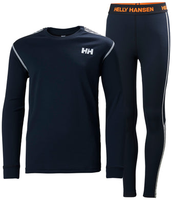 Helly Hansen Junior Lifa Active Set in Navy from the front