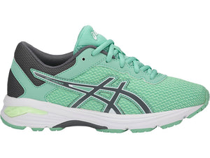 Kid's Asics Gt-1000 6 GS Running Shoe in Patina Green/Carbon/Opal Green