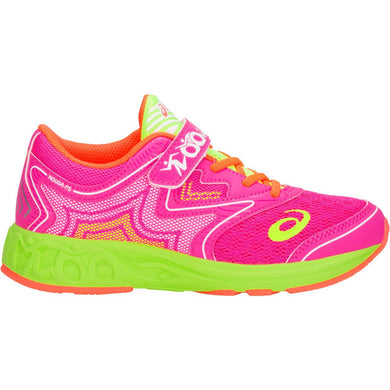 Kid's Asics Noosa PS Running Shoe in Pink Glo/Flash Yellow