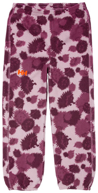 Helly Hansen Kid's Daybreaker Fleece Pant in Bubblegum Pink Aop from the front