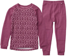 Load image into Gallery viewer, Helly Hansen Kid's Lifa Merino Set in Magenta Haze from the front