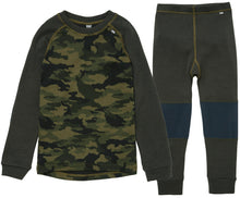 Load image into Gallery viewer, Helly Hansen Kid's Lifa Merino Set in Pine Green from the front