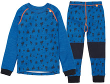 Load image into Gallery viewer, Helly Hansen Kid's Lifa Merino Set in Sonic Blue from the front