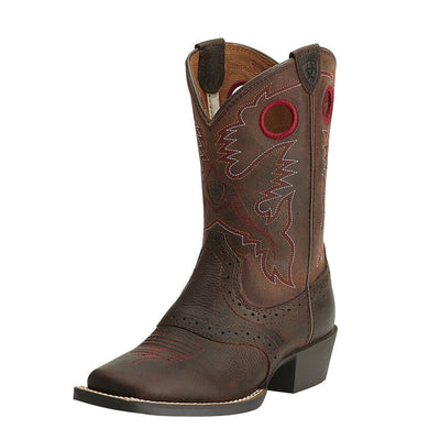 Kids' Ariat Heritage Roughstock Western Boot in Brown Oiled Rowdy
