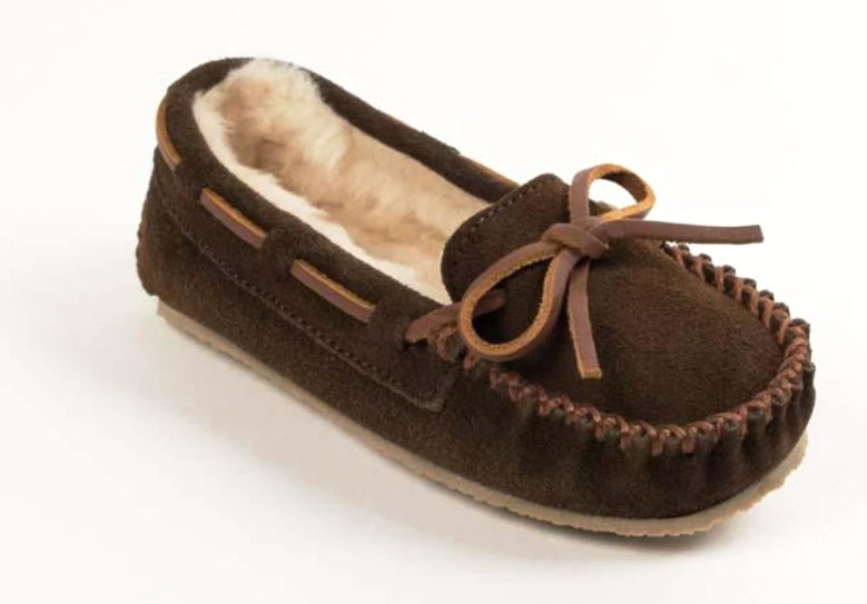 Cassie Slipper in Chocolate from 3/4 Angle View