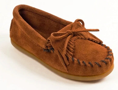 Kilty Hardsole Moccasin in Brown from 3/4 Angle View