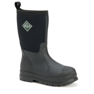 Kids' Muck Boot Chore Work Boot in Black from the side