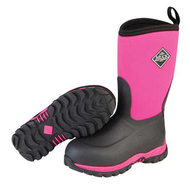 Kids' Muck Boot Rugged II Winter Boot in Pink/Black from the side
