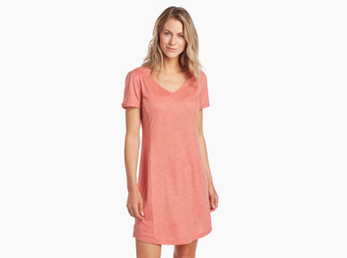 Women's Kuhl Inara Dress in Bellini Print from the front