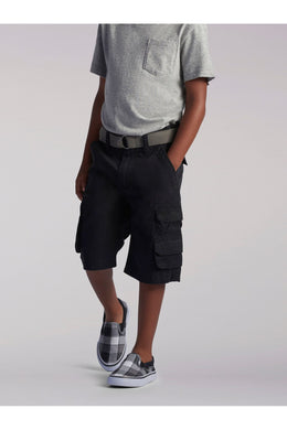 Wyoming Cargo Short in Black from Front View