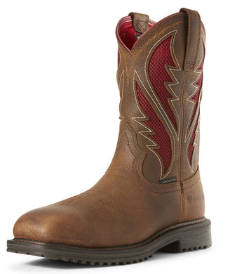 Men's Ariat Rigtek Venttek Composite Toe Work Boot in Rye Brown
