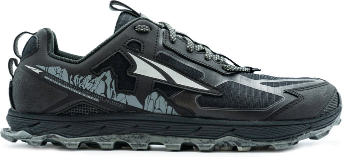 Altra Men's Lone Peak 4.5 Trail Running Shoe in Black from the side