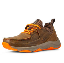 Load image into Gallery viewer, Men's Ariat Country Mile Athletic Western Sneaker in Brown Bomber/Orange from the front