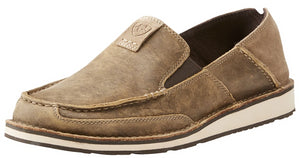Men's Ariat Cruiser Slip-on Shoe in Brown Bomber/Relaxed Bark