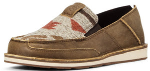 Men's Ariat Cruiser Slip-on Shoe in Brown Bomber/Rust Geo Print