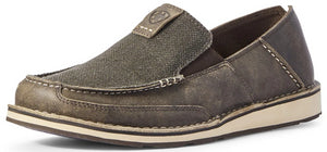 Men's Ariat Cruiser Slip-on Shoe in Gray Noir