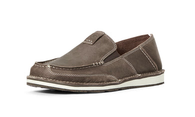 Men's Ariat Eco Cruiser Slip-on Shoe in Barbed Brown from the front