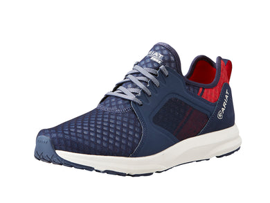 Men's Ariat Fuse Athletic Shoe in Team Navy from the front