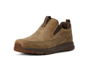 Men's Ariat Spitfire Slip-on Shoe in Brown Bomber from the front