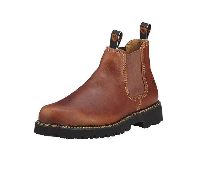 Men's Ariat Spot Hog Western Boot in Peanut from the front