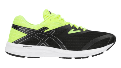 Men's Asics Amplica Running Shoe in Black/Black/Safety Yellow