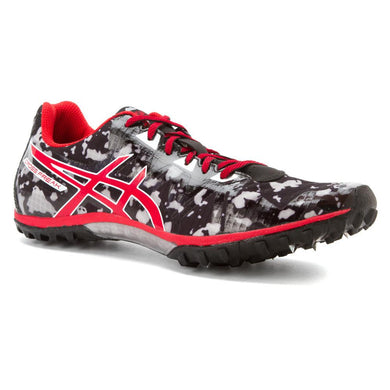 Men's Asics Cross Freak 2 Cross Country Shoe in Black/Fiery Red/Grey