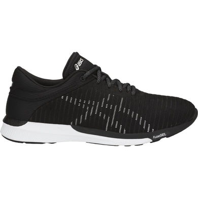 Men's Asics Fuzex Rush Adapt Running Shoe in Black/White/Dark Grey