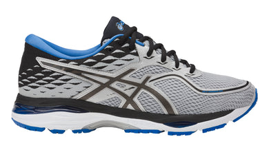 Men's Asics Gel-Cumulus 19 Running Shoe in Grey/Black/Directoire Blue