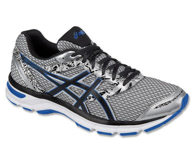 Men's Asics Gel-Excite 4 Running Shoe in Silver/Black/Imperial