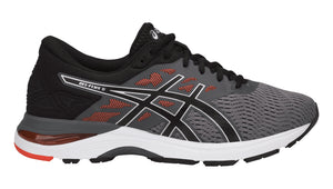 Men's Asics Gel-Flux 5 Running Shoe in Carbon/Black/Cherry Tomato